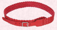 Accessorize new slim red leather obi